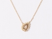 Collier diamant rose cut serti